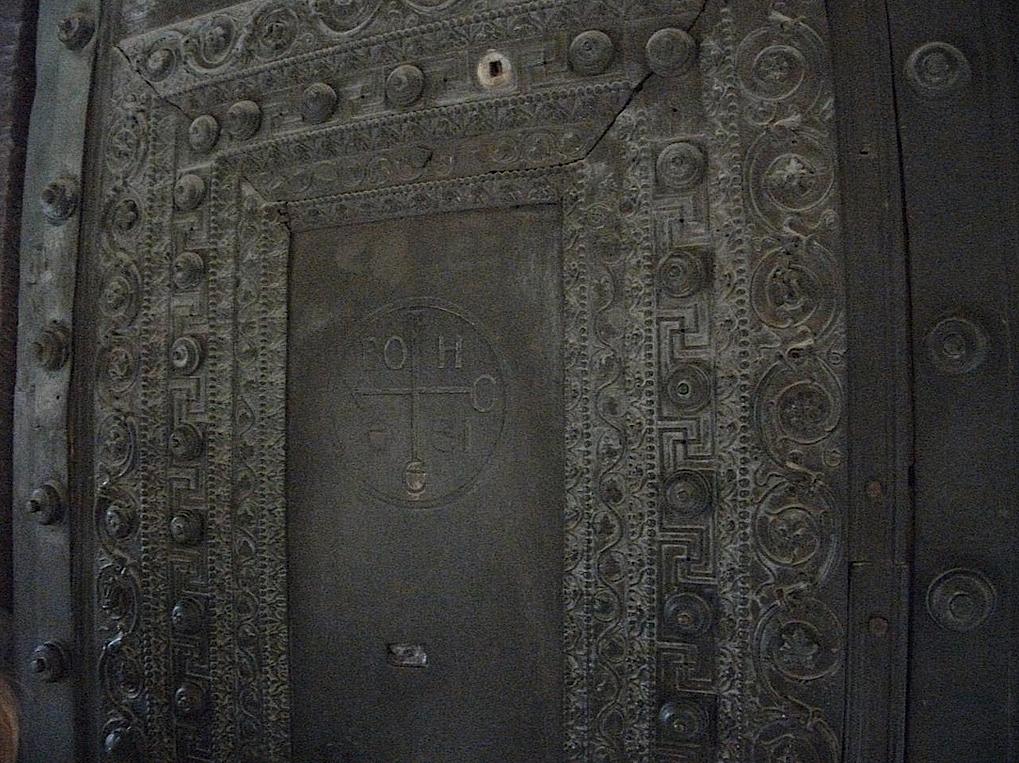 swastikas at Hagia Sophia